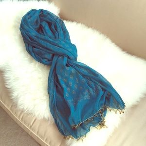 Accessories - Teal Scarf From India